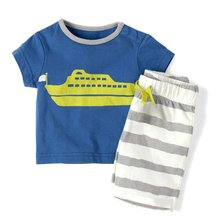 Baby Boy Toddler Short Sleeve T-Shirt Striped Pants Clothes Outfits Sets New Arrival(China (Mainland))