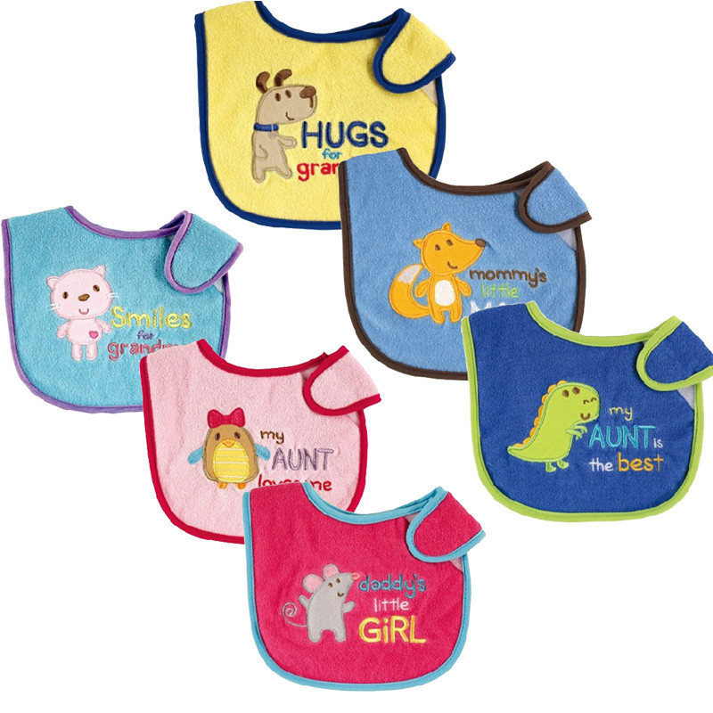 USA Luvable Friends Baby Bibs Babador Bandana Embroidered Bibs Carters Baby Boys Girls Bibs Babador Para Bebe Baby Burp Cloths(China (Mainland))