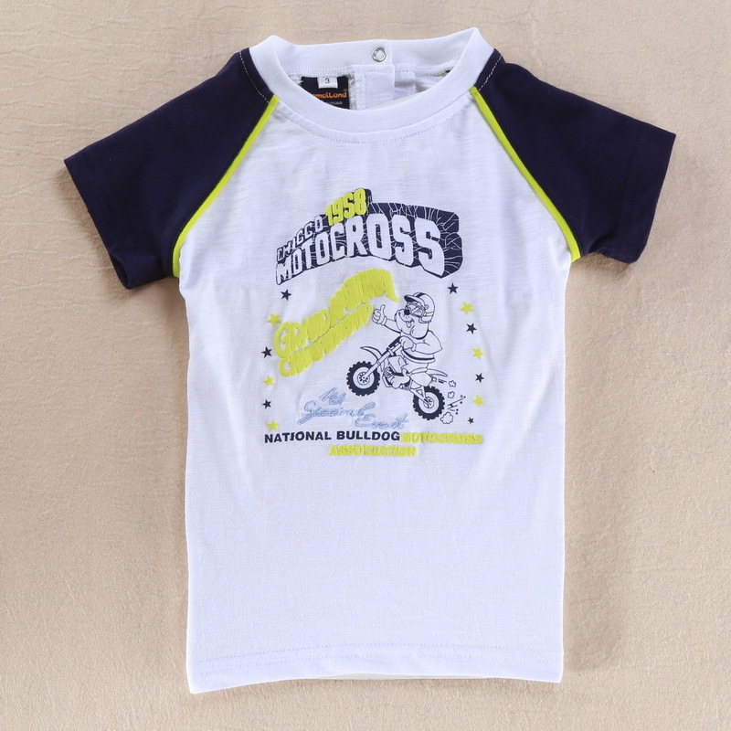 2015 summer Free Shipping Little Boys' Short Sleeve Toddler O Neck Top Cotton Fashion tee Motorcycle Size 2T 3T 4T 5T(China (Mainland))