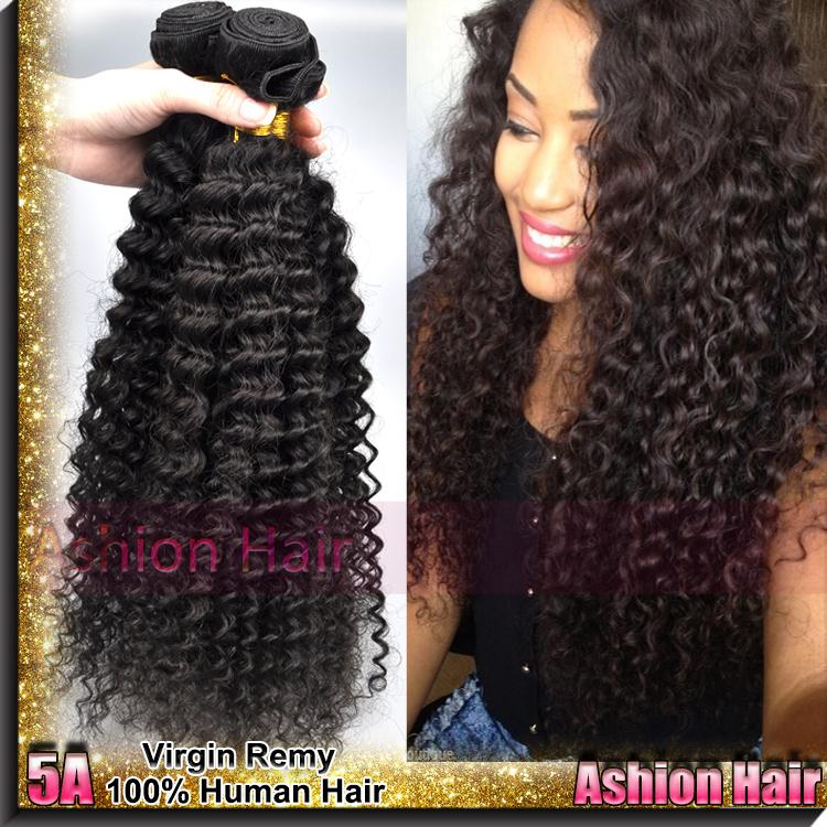 Ashion Hair 5A Kinky Curly Virgin Hair , 3 Bundles Brazilian Virgin Hair Extension , Free Shipping Brazilian Curly Virgin Hair(China (Mainland))