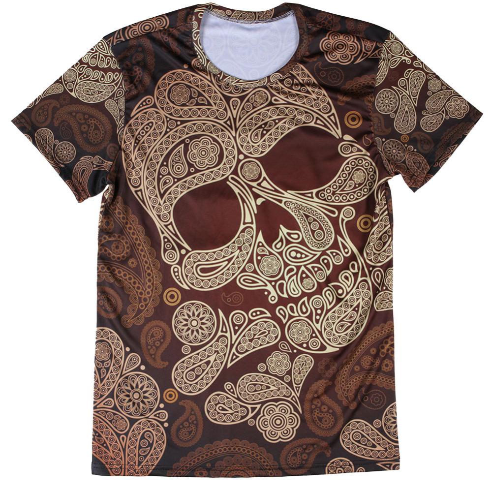 Hip Hop Style Skull Printing 3D T Shirt for Man Mens t-shirts Regular Decorating Male T Shirts Advanced Male's Clothing(China (Mainland))