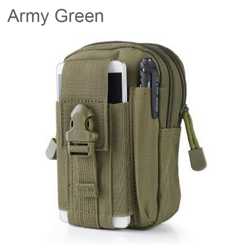 Universal Outdoor Tactical Holster Military Molle Hip Waist Belt Bag Wallet Pouch Purse Phone Cases for iPhone 7 /LG/Zipper 510(China (Mainland))