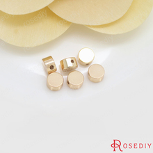 Buy 20PCS 5x3MM 24K Champagne Gold Color Plated Brass Round Flat Spacer Beads Bracelet Beads High Diy Jewelry Accessories for $3.26 in AliExpress store