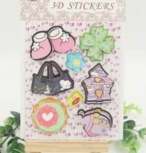 Mixed Deocrative 3D Adhesive Stickers for DIY Gift/Photo Album /Scrapbooking Kids Crafts/ Wedding Card Making Decoration(China)