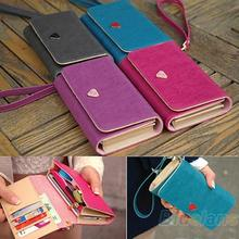 Women Lady Fashion Accessories Envelope Card Coin Wallet Leather Purse Case Cover Bag For Samsung Galaxy S2 S3 Iphone 4S