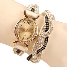 El diseño de nido de relojes mujer 2015 pulseras cristalinas de cuarzo relojes mujer marca Casual reloj relogio feminino regalo