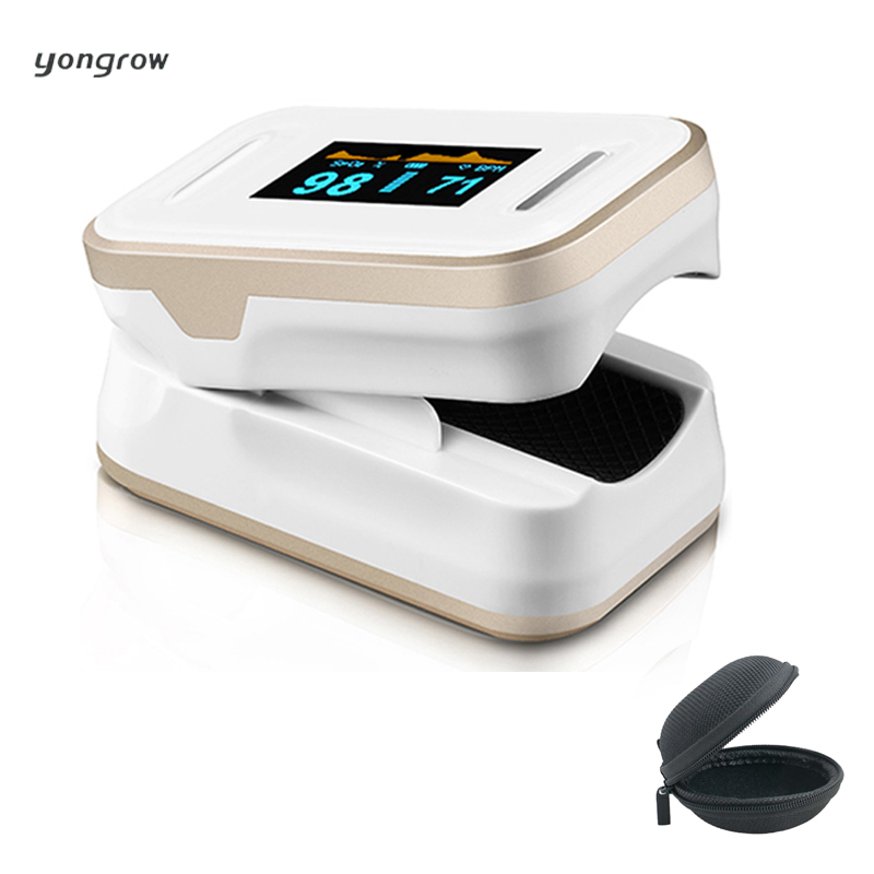 yongrow Oximetro Pulse Oximeter De Pulso De Dedo Fingertip Pulse Oximeter Golden Color Pulsioximetro Oled Heart Rate Monitor
