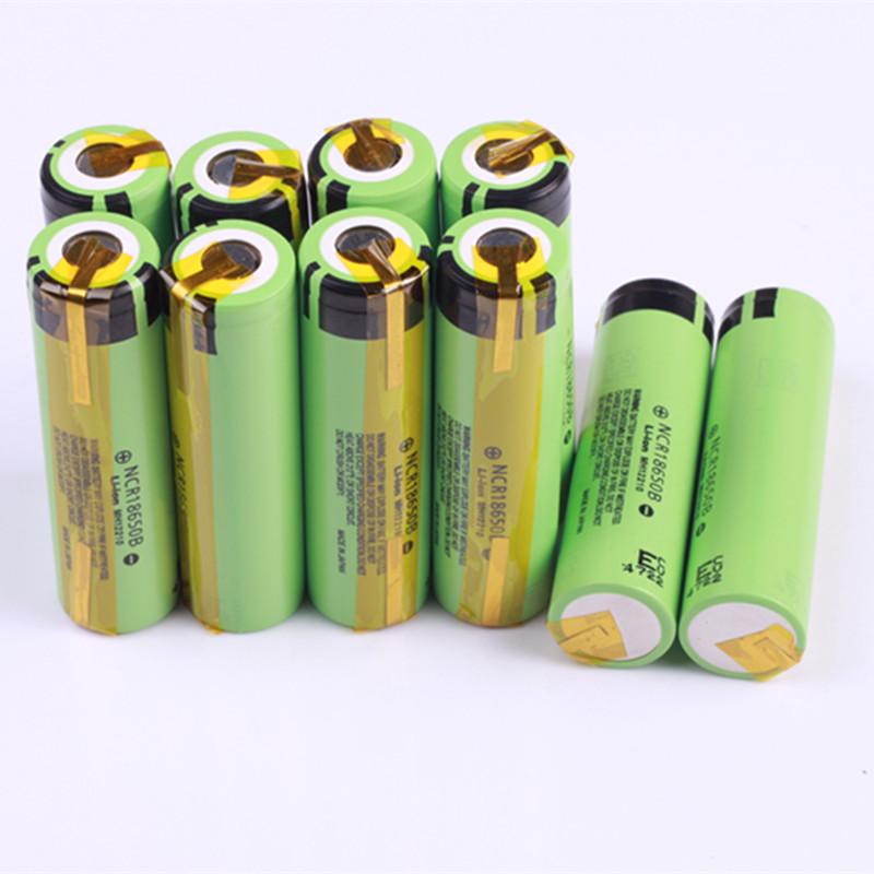 Гаджет  6PCS New Original 3400mah 18650 Rechargeable battery NCR18650B With Tabs For panasonic Free Shipping None Электротехническое оборудование и материалы