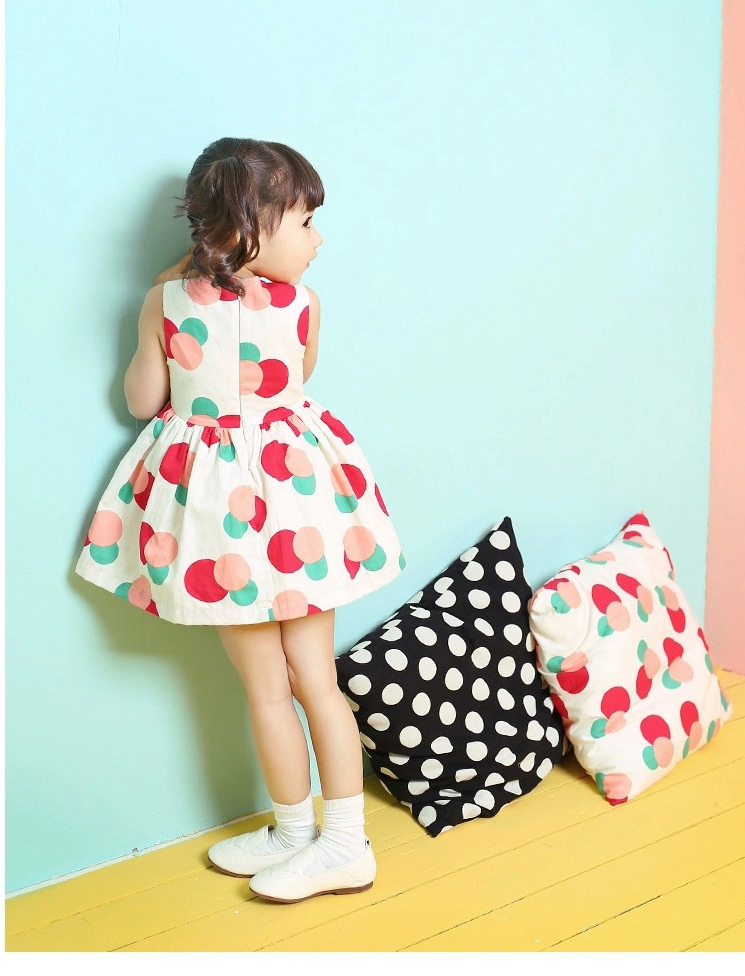 Hot Polka Dot Bowknot Kids Girls Princess Party Formal One piece ...