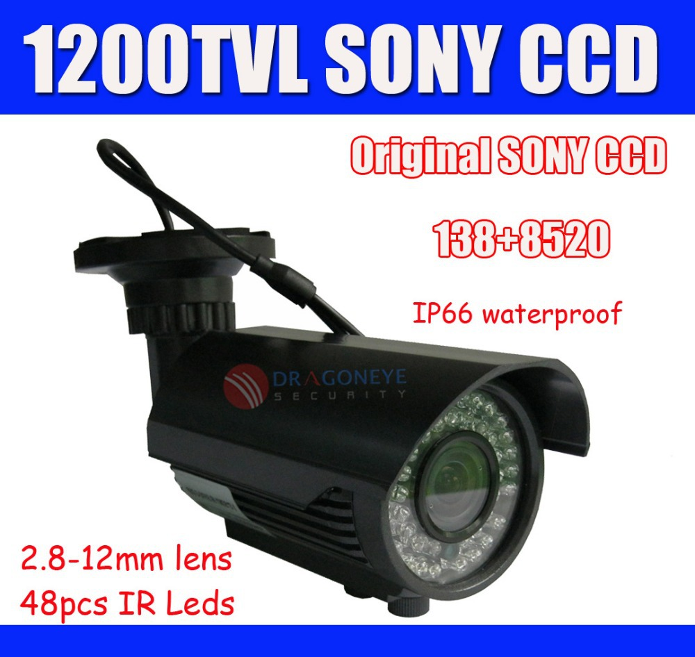 Original Sony 1200TVL CCTV Camera 2.8-12mm Lens 42pcs IR Leds outdoor IR Waterproof Camera 40m IR Range Security Camera(China (Mainland))