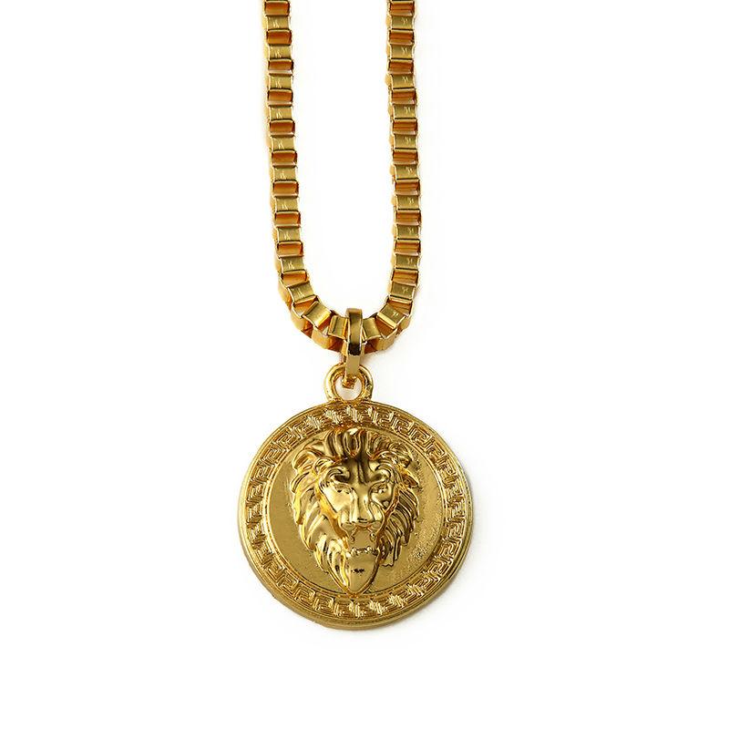 Aliexpress Com Buy Shiny Round Lion Head Chain Gold