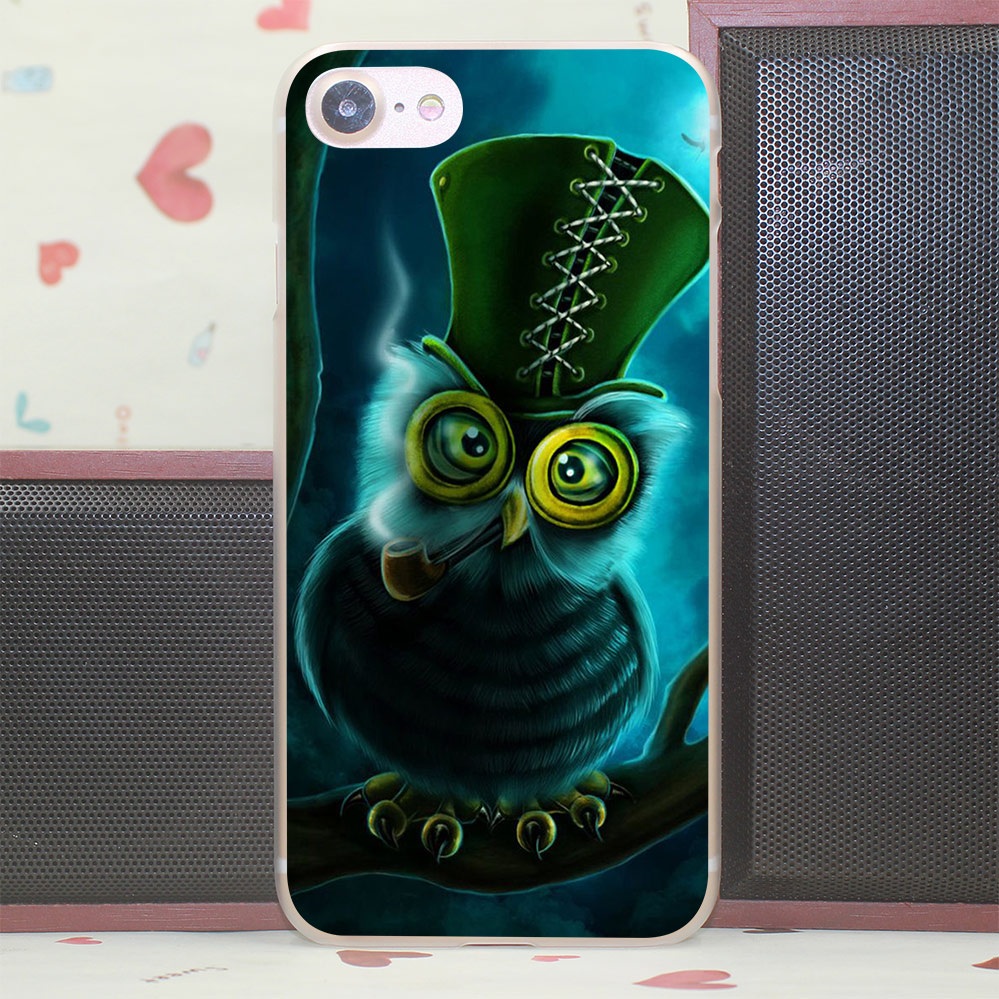 744V Steampunk Owl Hard Case for iPhone 7 6 6S Plus 5 5S SE 5C 4S for Samsung S3 S4 S5 & Mini S6 S7 Edge Plus(China (Mainland))