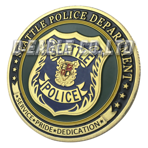 United States Military Seattle Police Department / SPD Gold Plated Challenge coin 1151#(China (Mainland))