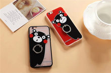 Cute cartoon bear Kumamoto ring buckle bracket For Apple phone shell iphone6s 6plus couple shell drop resistance