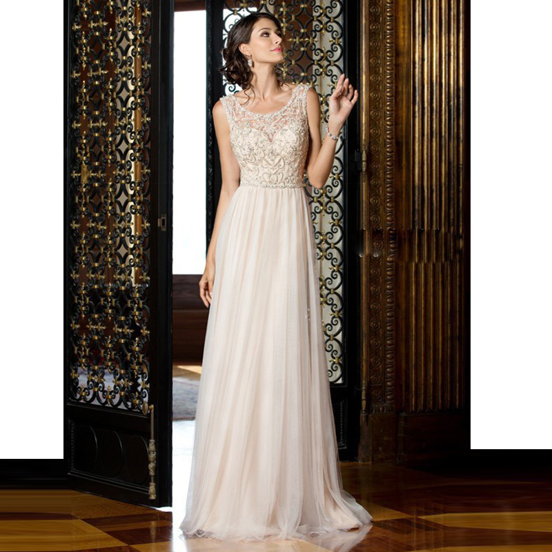 New Arrival 2016 Floor Chiffon Wedding Dresses Gowns Beaded Wedding Dresses(China (Mainland))