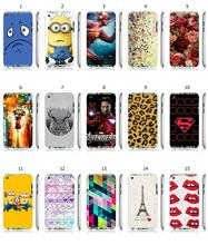 Mobile Phone Case Hot 1pc Iron Man Flowers Leopard Print Hybrid Design Protective White Hard Case For ipod touch 4 Free Shipping
