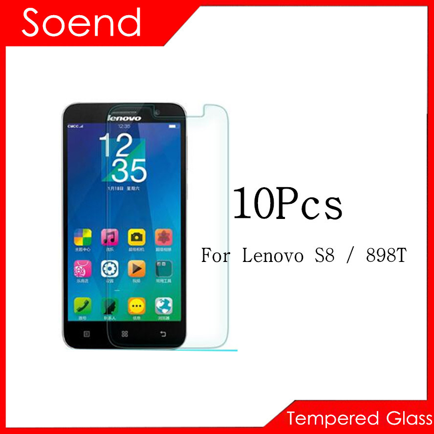 10Pcs/Lot Tempered Glass Screen Protector For Lenovo S8 898T Protection Cover Protective Guard Film 2