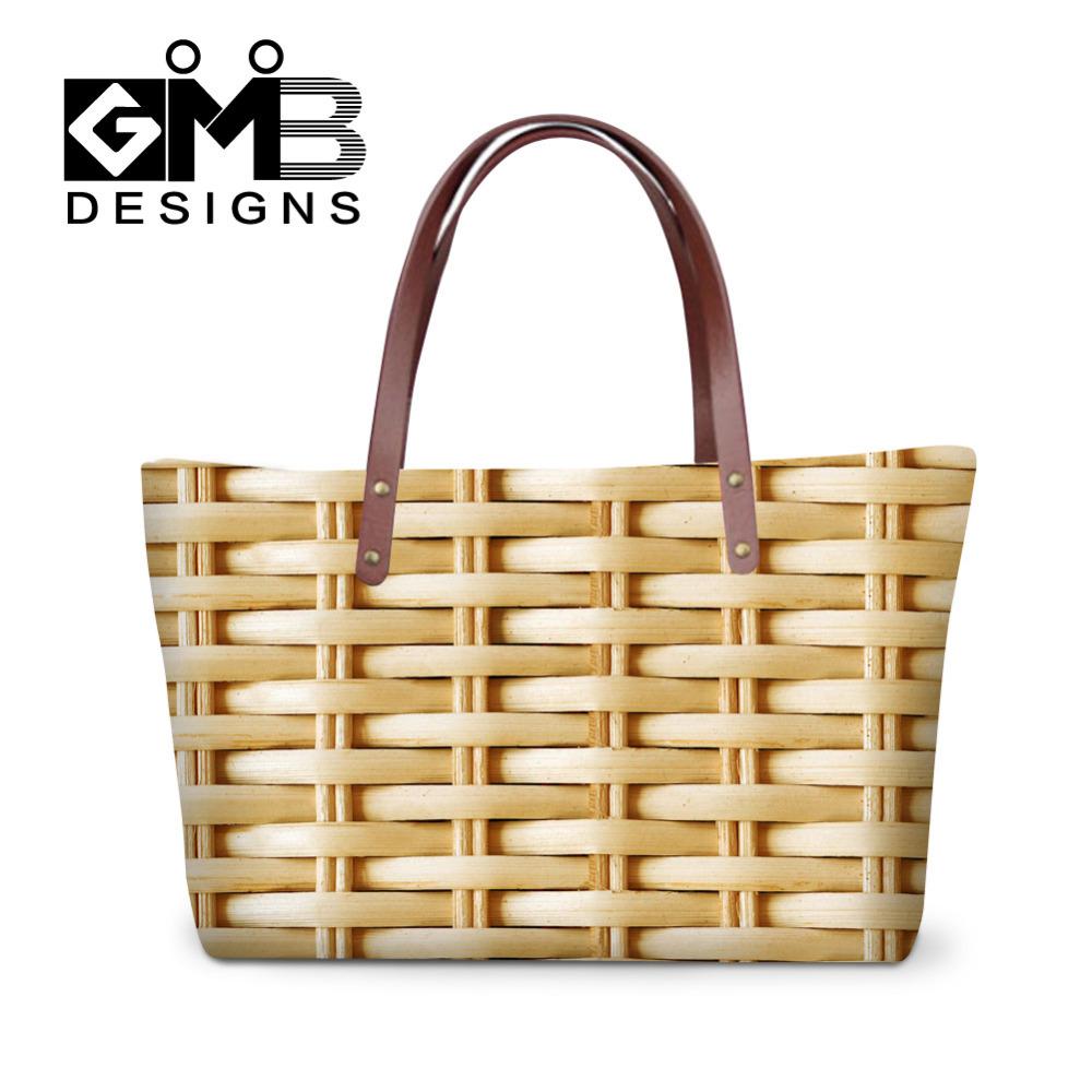 Dispalang Women Handbags Bamboo Woven Pattern Ladies Hand Bags Large Capacity Totes Bag Female Shoulder Bag Bolsas Femininas(China (Mainland))