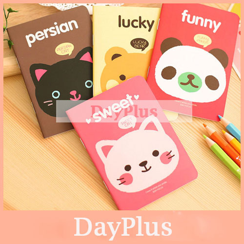 24pcs Mini Schedule Book Cute Animal Notebook Diary Caderno Escolar Agenda Stationery Office Material School Supplies(China (Mainland))