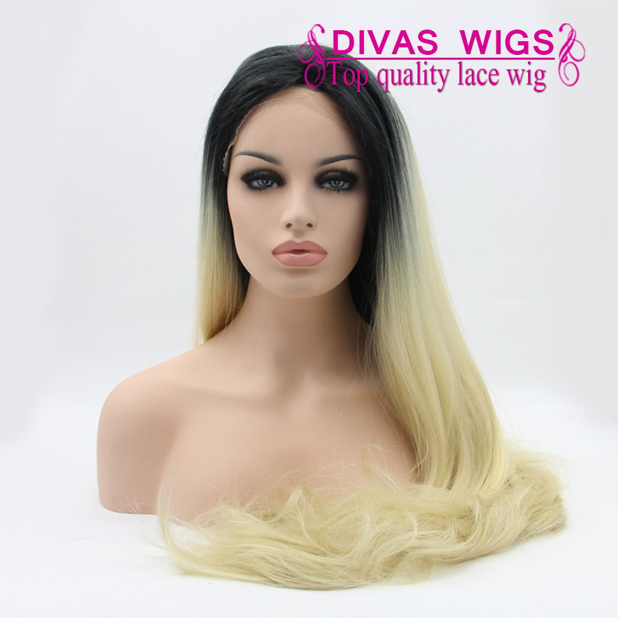 2015 HOT sexy high temperature fiber synthetic lace front wig silk straight 1bT613 lace front wig heat resisitant straight wig<br><br>Aliexpress