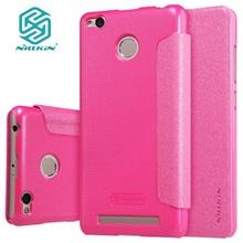 for xiaomi redmi 3 s 3s cover hard back cover NILLKIN PU leather case flip cover for xaomi redmi 3 xiaomi redmi 3 pro prime(China (Mainland))