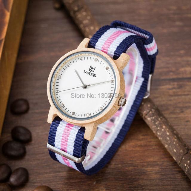 Zegarek drewniany UWOOD Nylon Color różne kolory