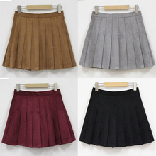 2016 new Multi color Japanese high waist pleated skirts JK student Girls solid pleated skirt women Thickening Spring Skirts