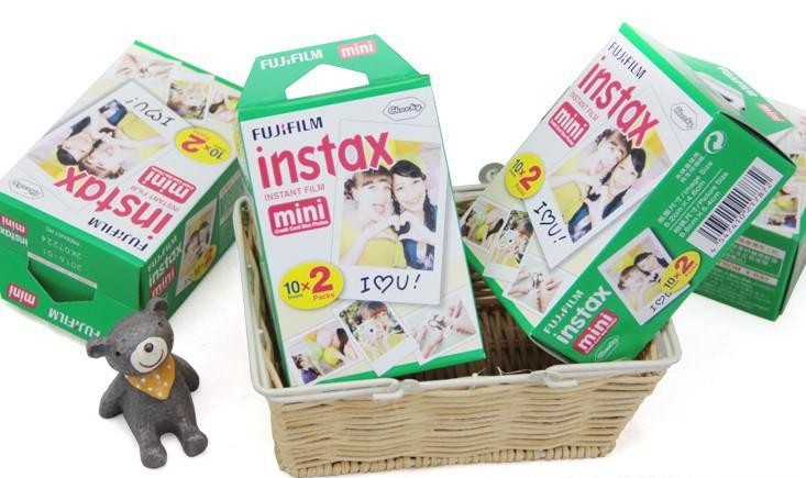 40PCS/Set White Edge Film Fujifilm Instax Mini 7s/8/50s/25/90/sp-1 Free Gift Price - Go Travel store