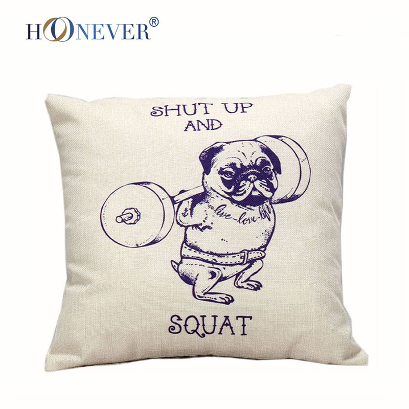 Red Nose Dog Cushion Covers 5 Christmas Dog Linen Cotton Blended Cheap Cushion Cover Decorative Soft