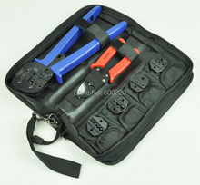 Combination hand crimping tool set tool kit with cable cutter and replaceable dies,combined tool kits A-K03D