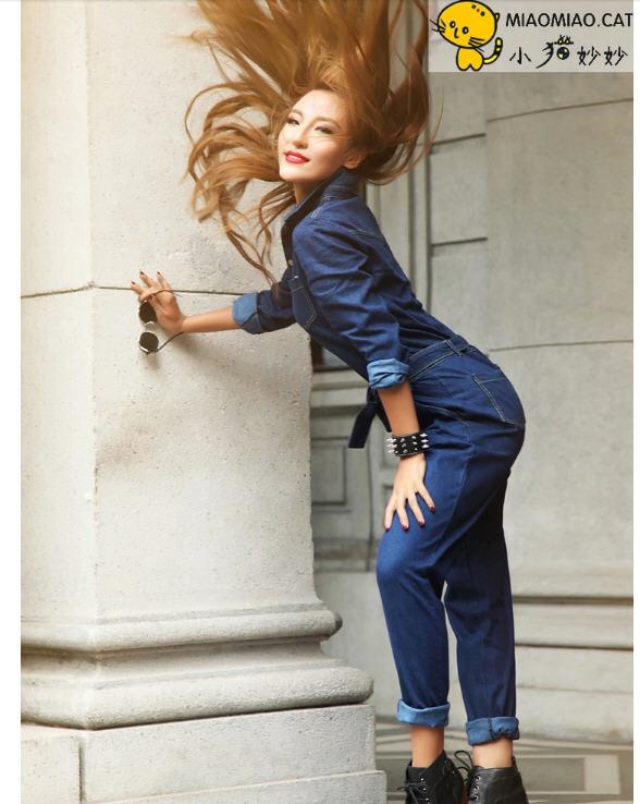 купить Женский комбинезон Women jean jumpsuit 2015 D3564 20150413 недорого