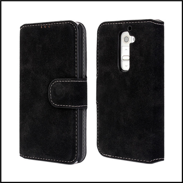 Case For LG G2 D802 Back Cover Protective Shell Matt PU Leather Wallet Card Slot Stand Mobile Bag For LG G2 Phone Cover(China (Mainland))