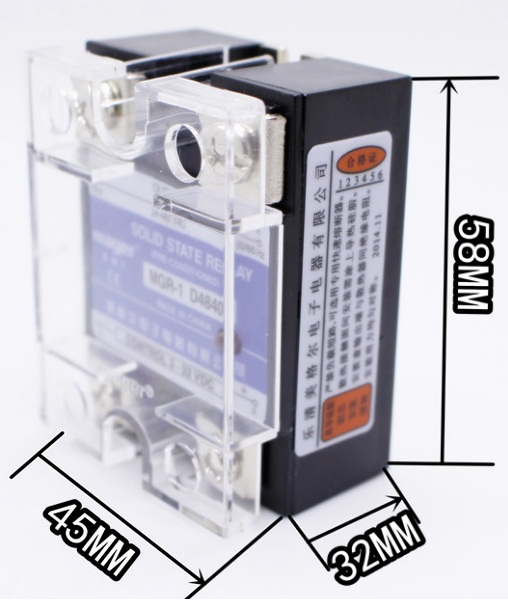 free shipping  mager 40A SSR,input 3-32VDC output 24-480VAC single phase solid state relay SSR MGR-1 D4840 40A<br><br>Aliexpress