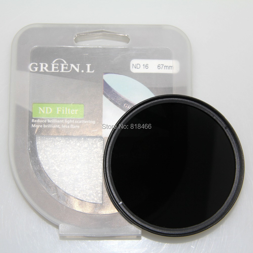 free shipping GREEN L 77mm ND16 ND filter Neutral Density ND 16 Lens Filter for 77 mm Glass Material for canon nikon(China (Mainland))
