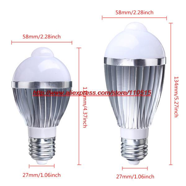 Smart Lamps LED E27 hunman ambient light sensor bulb 10W 14Wautomatic switch light(China (Mainland))