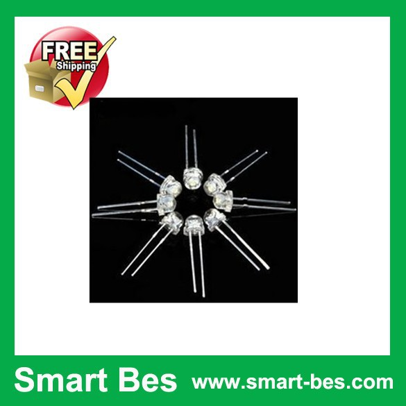 Free Shipping 1000PCS/Lot ~Smart Bes 5MM Straw Hat LED White Ultra Bright LEDS electronic supply good quality in stock(China (Mainland))