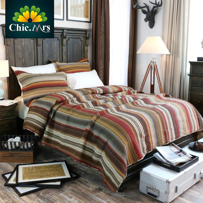 Rey del verano del remiendo hechos a mano edredón 3 unids por una sola cama doble Red stripped edredón sistemas del lecho manta patrones 2016(China (Mainland))