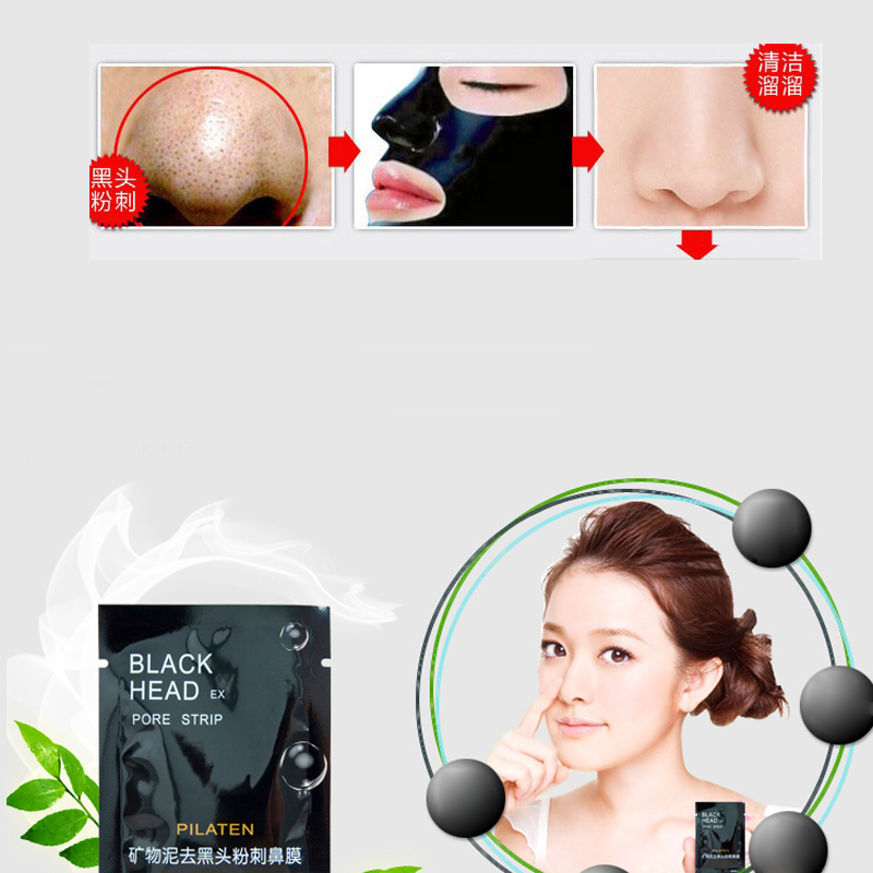 10 Pcs /lot minerals Conk nose Mask Cleansing Remove Black head Nose ex pore strip(China (Mainland))