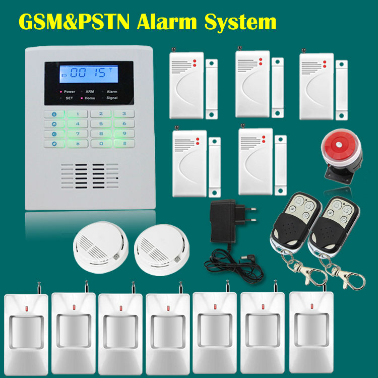 Free Shipping!Home Wireless 433MHZ or 315MHZ Quad Band 101 Zones LCD Screen GSM PSTN Security Alarm System Kit(China (Mainland))