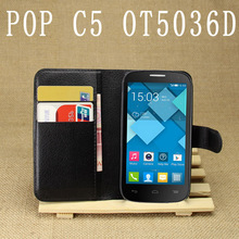 Buy Luxury Flip PU Leather Cases Alcatel OneTouch Pop C5 5036 OT5036 5036D 4.5inch Cases Covers Wallet Card Holder shell housing for $3.55 in AliExpress store