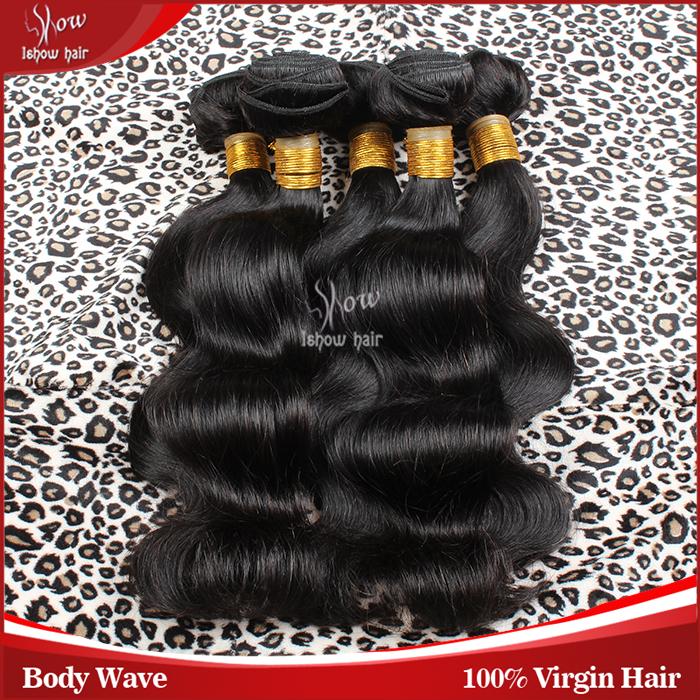 6A Grade Top Sale Hair Extensions Brazilian Virgin Hair Body Wave 3 Bundles 100% Unprocessed Virgin Brazilian Hair Weave Bundles(China (Mainland))