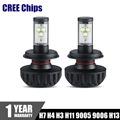 2x CREE Chips H7 LED Headlight Bulbs 60W 6000LM H4 H11 H13 H3 9005 9006 Car