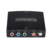 5 RCA Ypbpr component to HDMI HDTV video audio converter adapter with power supply