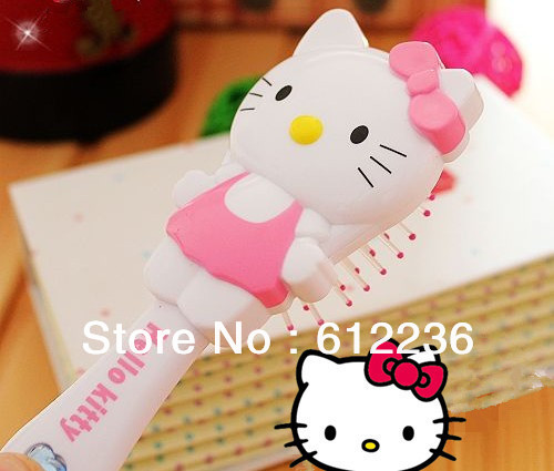 Beuatiful  Hello Kitty 3D cartoon style Princess comb  Plastic hairbrush beautiful good as gifts for friends hot sellling new