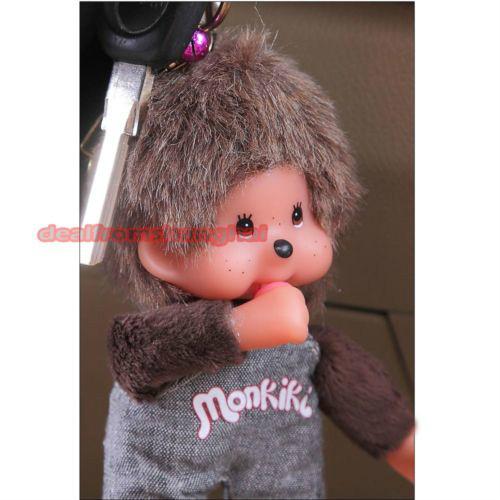 Monchichi Monchhichi Keyring Key Chain Charm Pendant Car Hanging Novelty Gift 048-4653(China (Mainland))