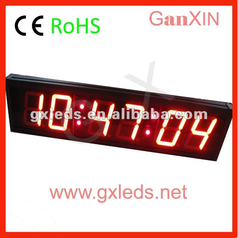 Red indoor with alarm wall led clock(China (Mainland))