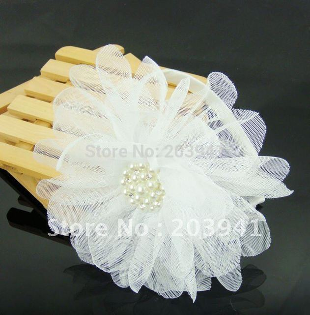 Students' deco stationery/ / Kids/Girls large pearl flower Hairbands / lace Headbands/Hair Accessories/ kids gift / Wholesale