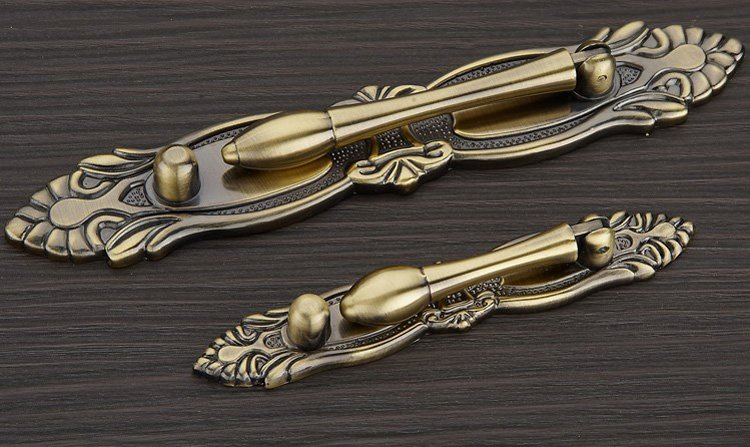 Antique Bronze Furniture System CAbinet Drawer Handles And Shoe Cabinet Door( C:C:64MM L:114MM)(China (Mainland))