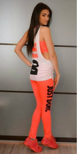 Fashion Women Sexy Sports Clothing Set Summer Sport Suit Costume Women's Tracksuits Tops+Pants +Tanks 3 Colors Free shipping(China (Mainland))