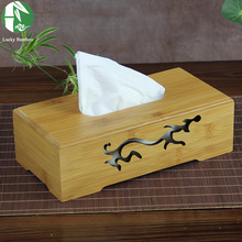 8 types tissue boxes natural bamboo tissue box cover with carvings paper towel storage new creative napkin holder vintage wooden(China (Mainland))